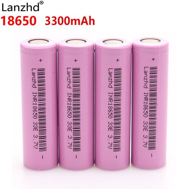 4 Uds 3,7 v batería 18650 33E INR18650 baterías recargables para samsung 18650 Li-ion de litio 30A aprobación de la gestión 3300mAh VTC6 VTC7