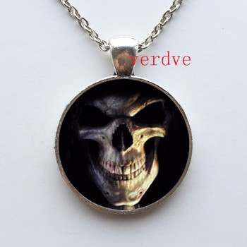 1pcs/lot Skull Logo Pendant Necklace Vintage Pendant Necklace Jewelry For Girl Dress Accessories