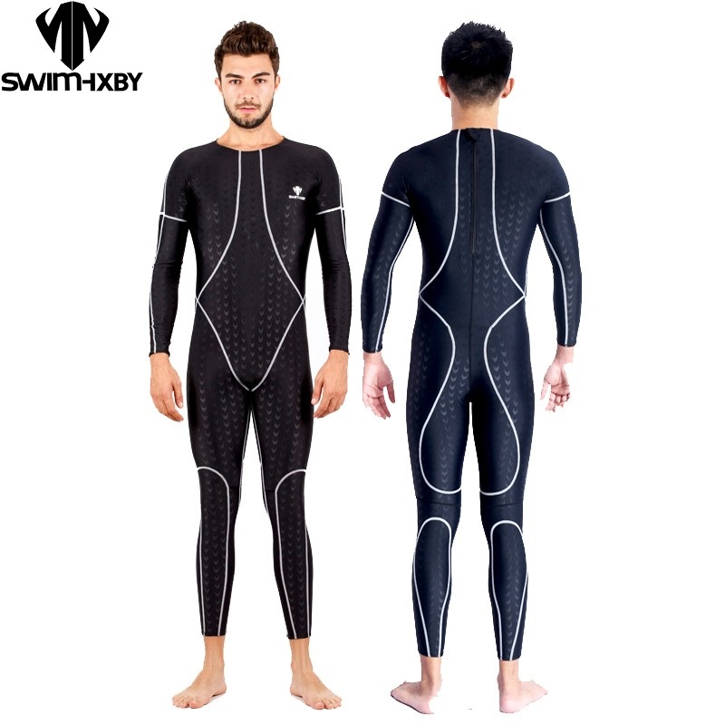 91bdb033537c4 HBXY Mens one piece swimwear full body swimsuit for men competition  swimsuits racing swim suit men. sku  32710792405
