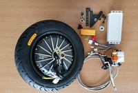 10 10 inch 48V 60V 72V 1000W Hub Motor Kit For Motor Wheel Electric Motorcycle DIY With Controller Hydraulic Disc Brake System