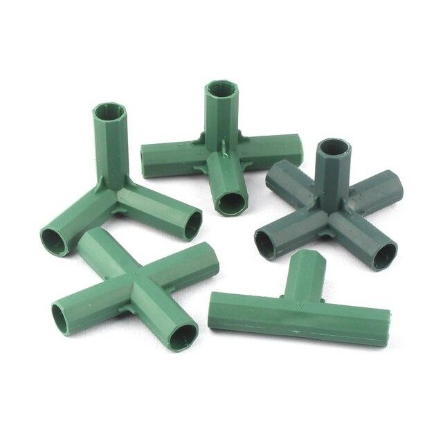 2 pz 16mm Plastica Giardinaggio Pilastro Connettori Orto Piante Rampicanti Staff