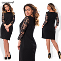 L-6XL Womens Elegant Sexy Lace See Through Tunic Casual Club Bridesmaid Mother of Bride Dress Skater Plus Size Party Dress