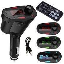 Newest Brand LCD Car MP3 Player Audio Music Player Wireless FM Transmitter Modulator Car kit USB SD MMC+Remote radio
