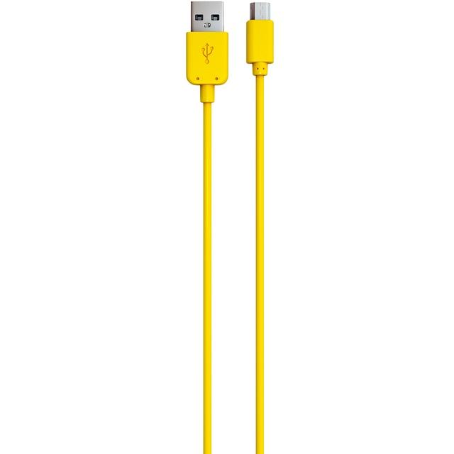 Дата-кабель Red Line USB - micro USB, желтый УТ000009492