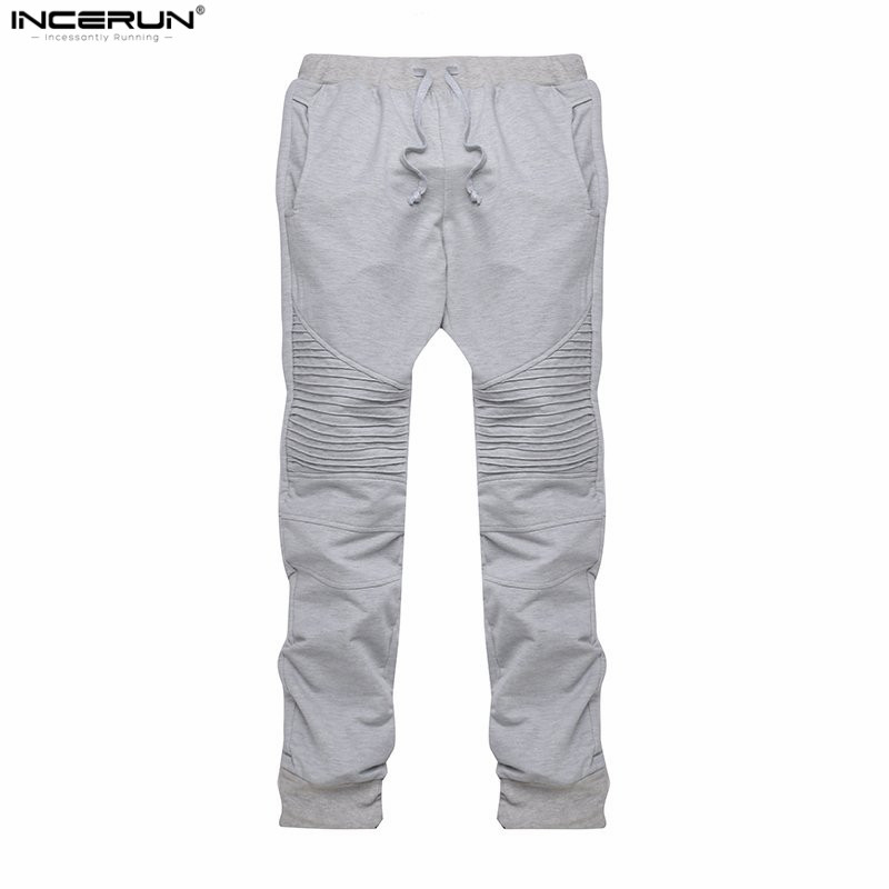 134875f3e9c INCERUN Mens Jogger Pants Outdoors Joggers Hip Hop Harem Sweat Pant Men  Trousers Slim Workout Bodybuilding Clothing Pants-in Skinny Pants from Men s  ...