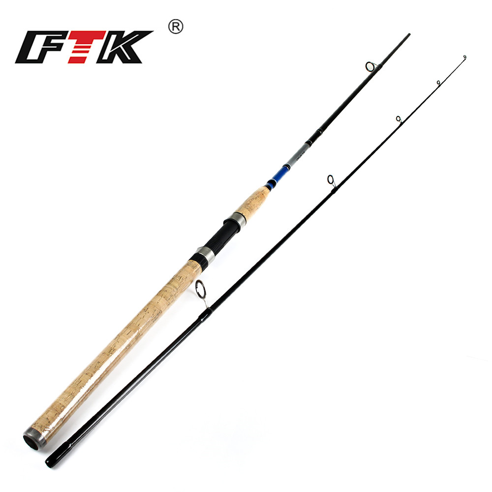 FTK 99% Carbon Spinning Fishing Rod 2 Sections Lure Rod C.W. 3-21g For Lure Fishing all for fishing