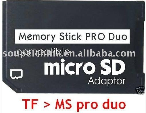Micro SD TF to Memory Stick MS Pro Duo Adapter converter For PSP Support 4GB 8GB