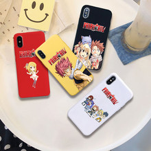 Fairy tail anime lucy manga macio silicone doces capa de cor caso do telefone para o iphone x xr xs max 6 7 8 plus 6s(China)
