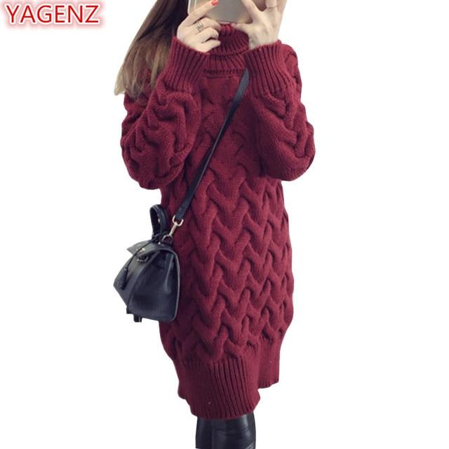 YAGENZ נשים וסוודרי סתיו שמלה קוריאנית סגנון נשים חולצות גולף אופנה בגדי נשים פסים סוודרים 551
