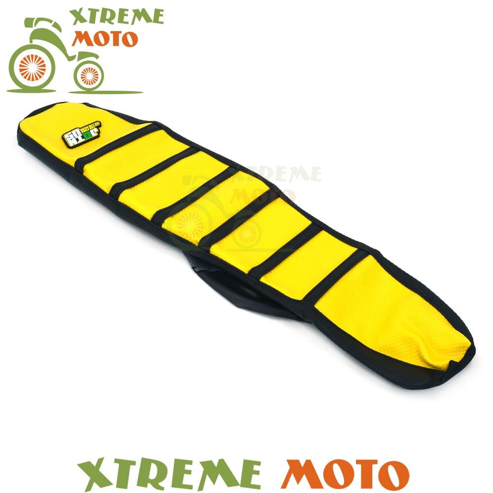 цена на Yellow Rubber Vinyl Gripper Soft Seat Cover For Suzuki RM RM125 RM250 1996 1997 1998 1999 2000 Motocross Supermoto Motorcycle