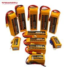 4S RC LiPo batterie 4S 14.8V 1300mAh 1500mAh 1800mAh 2200mAh 2600mAh 6000mAh mAh 25C 40C 60C pour RC avion hélicoptère quadrirotor 4S
