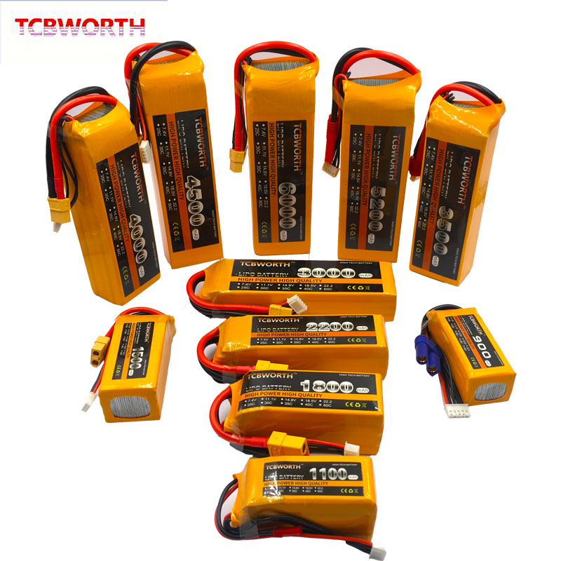 4S RC Lipo Battery 4S <font><b>14.8V</b></font> 1100mAh 1300mAh 1500mAh 1800mAh <font><b>2200mAh</b></font> 2600mAh 25C 40C 60C For RC Airplane Helicopter Quadcopter 4s image