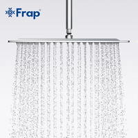 Frap 200*200mm High quality square 304 Stainless Steel Shower head Rainfall Shower Faucet Overhead shower G28