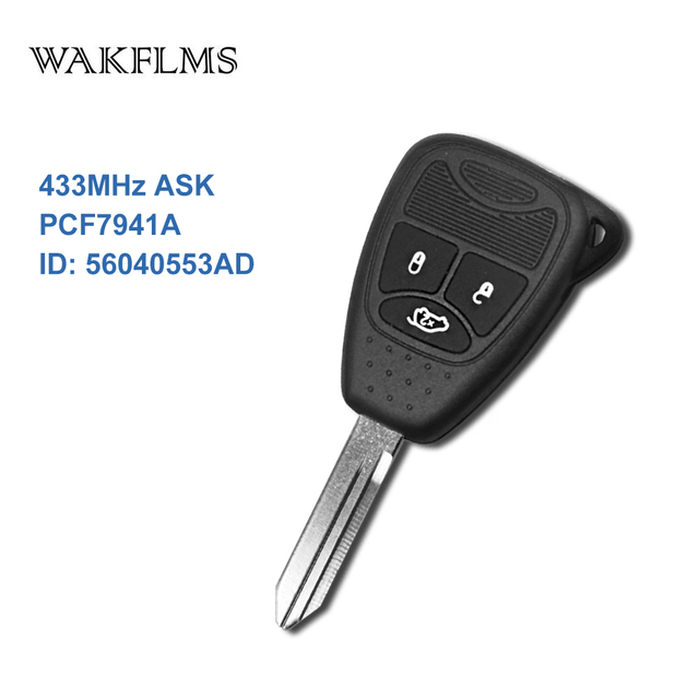 Aliexpress com : Buy 3 Button Smart Remote Key Fob With ID46 Chip 433mhz  for Chrysler 300C Sebring PT Cruiser 56040553AD from Reliable Car Key