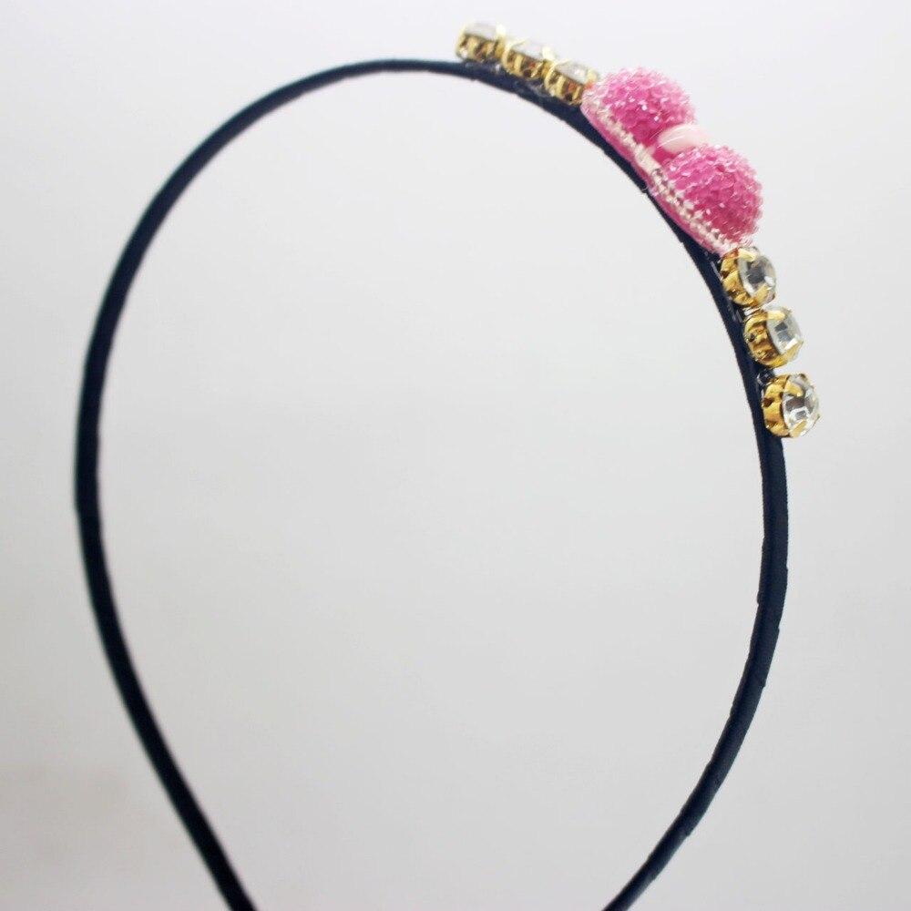 Fashionabla hairbands barn vackra harts bowknot crystal tillbehör - Kläder tillbehör