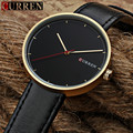 2016 New Curren quartz Tag Black leather strap band Vogue Casual watch Men Business Male Relojes hombre Simple Wristwatch gift