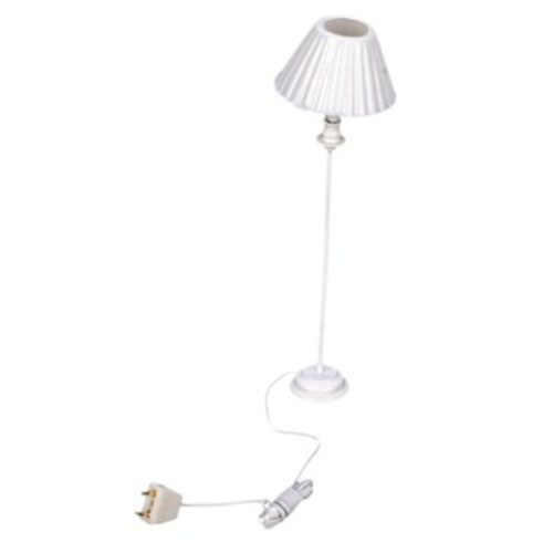 HOT 1 12 Dollhouse Miniature Floor Lamp Light Size 11 5 cm Color White
