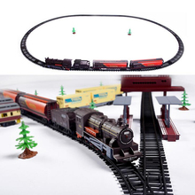 1 pcs Toys For Children Electric Train Toy Steam Locomotive AA Battery Kids Toys Light And Sound Simulation Mini Train Model toy