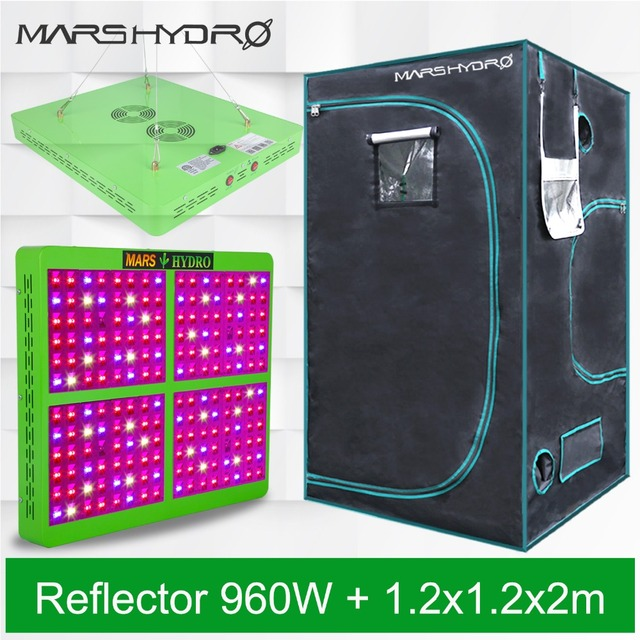 Mars Reflector 960W LED Grow Light full spectrum Veg Flower Hydro+120x120x200cm Indoor Grow Tent Kit for indoor plants growing  sc 1 st  AliExpress & Mars Reflector 960W LED Grow Light full spectrum Veg Flower Hydro+ ...
