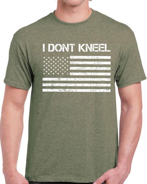 bde853646cb 637 I Don t Kneel mens T-shirt america USA veteran patriot anthem flag  national