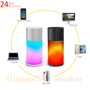 A6 Portable Waterproof Bluetooth Bar Speaker mp3 Music Box LED Panel 360 Stereo System Hi-Fi Mobile Phone Wireless Charger