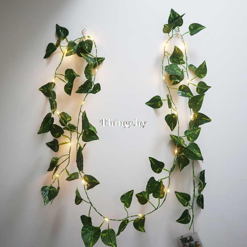 size 40 5e6a0 7d36e Ivy leaf garland fairy lights 2m, Ivy leaves fairy led string  lights,garland wedding home decoration, mini led copper lights