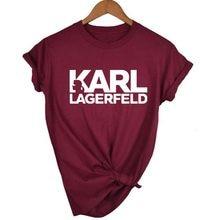 4f8f0f246ec4 Карл Lagerfeld футболка для женщин унисекс Лето 2019 Vogue короткий рукав Забавные  футболки для Harajuku tumblr