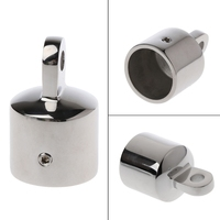 1 stainless steel Stainless Steel Bimini Top Eye End Cap For 1.18