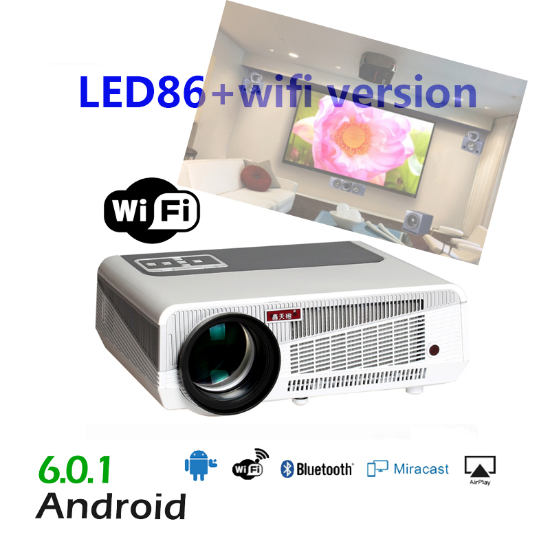 5500 Lumens Smart Lcd Tv Led Projector Full Hd Support: 5500lumen Android6.0 HD LED Wifi Smart Projector 230W 3D