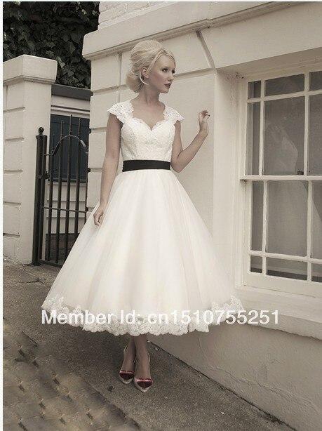 Us 149 0 Black Wedding Dress Beach Guest Dresses High Street Flowy Short White A Line Knee Length None Bow Sweetheart Cap S 2015 Discount In Wedding