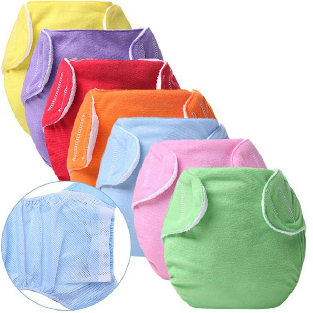 Kidlove Baby Solid Color Magic Sticky Cloth Diaper Summer Grid Diaper