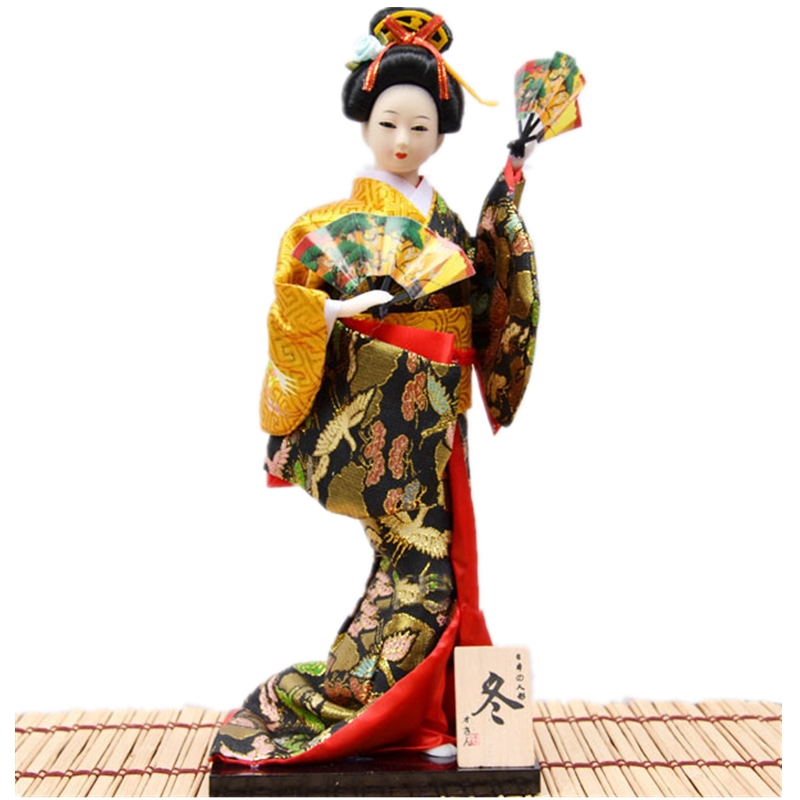 Beautiful Hand made crafts Japanese Kimono Geisha Miniatures Dolls for Home Decoration Feng Shui Crafts office ornaments|doll for|doll doll|dolls dolls dolls - title=