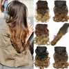 7pcs/set Clips In Hair Extension Curly Wavy Fake Hair Pieces 16 Clip In False Hair Ombre Cheap Hairpiece B40