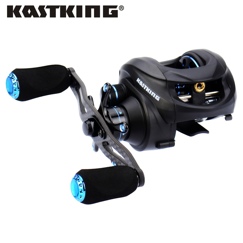 ФОТО KastKing Assassin Dual Brakes System Full Carbon Body 7.5KG/16.5LB Drag 12BBs Super Light 163g 6.3:1 Baitcasting Fishing Reel