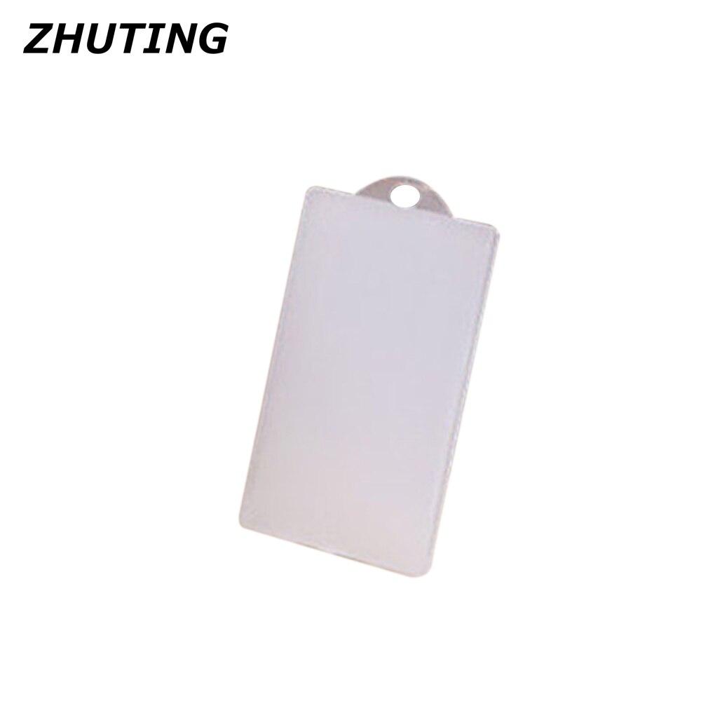 Тонкий ПВХ прозрачный IC брелок с отсеком карточки чехол для кредитной карты Чехол держатель без веревки