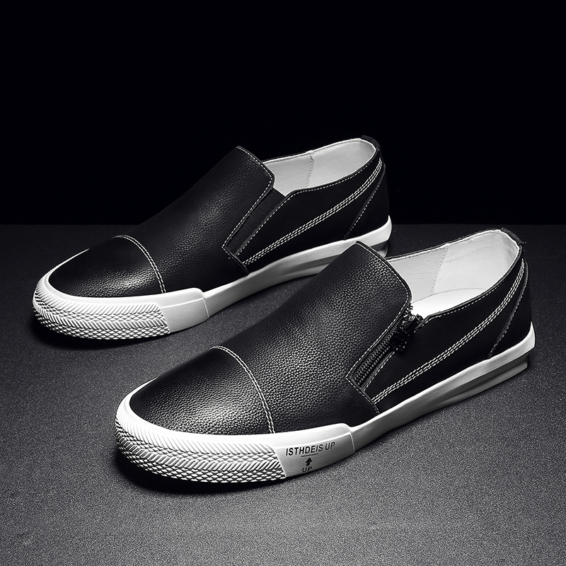 royal Casual Pu Sola Originais De Masculino Blue Borracha Sale Homens 2018 Hot Men Shoes Calçados slip Black Flats Preto Couro Sapatos Anti Azul Andando Bx0q8