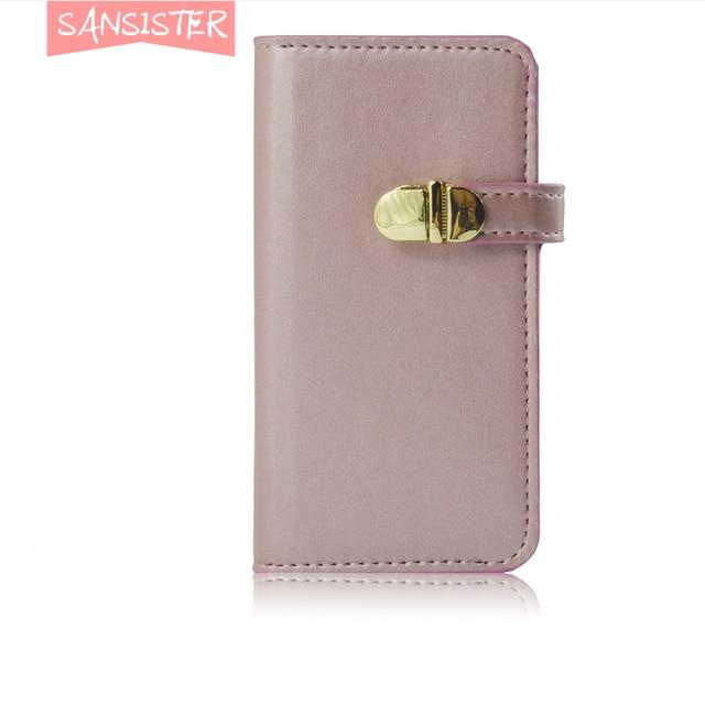 Roze Portemonnee.Sansister Leather Case Voor Iphone 7 Plus Merk Originele Rose Roze