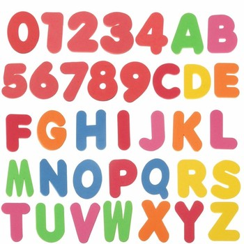 New 36pcs Children Bath Tub Foam Letters Numbers Educational Baby Early Learn Water Shower Toy Sets Kids Baby Toy Bath Toy number