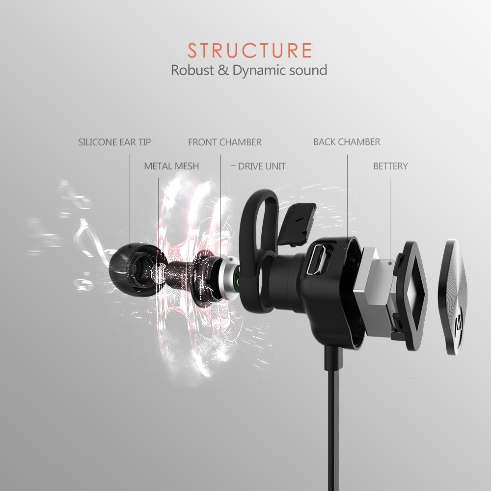 86b681bacf3 Mpow BH29 Coach Headphone Wireless Bluetooth 4.1 In Ear Sports Metal ...