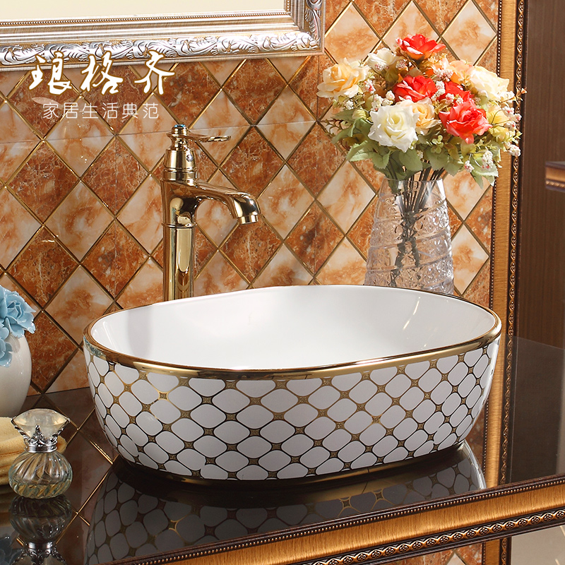 high quality Lang stage oval wash basin sanitary ceramics art basinhigh quality Lang stage oval wash basin sanitary ceramics art basin