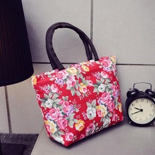 Women Casual Large Capacity Totes Versatile Floral Print Canvas Casual Tote Pocket Simple Retro Shoulder Bag For Women 2019 светильник на штанге arti lampadari mazzola h 1 13 30 n