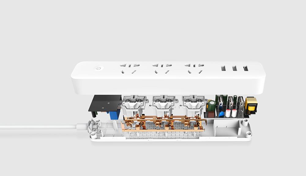 Original Xiaomi Smart Power Socket Strip Plug Adapter with 3 USB Port Smart APP Control (14)