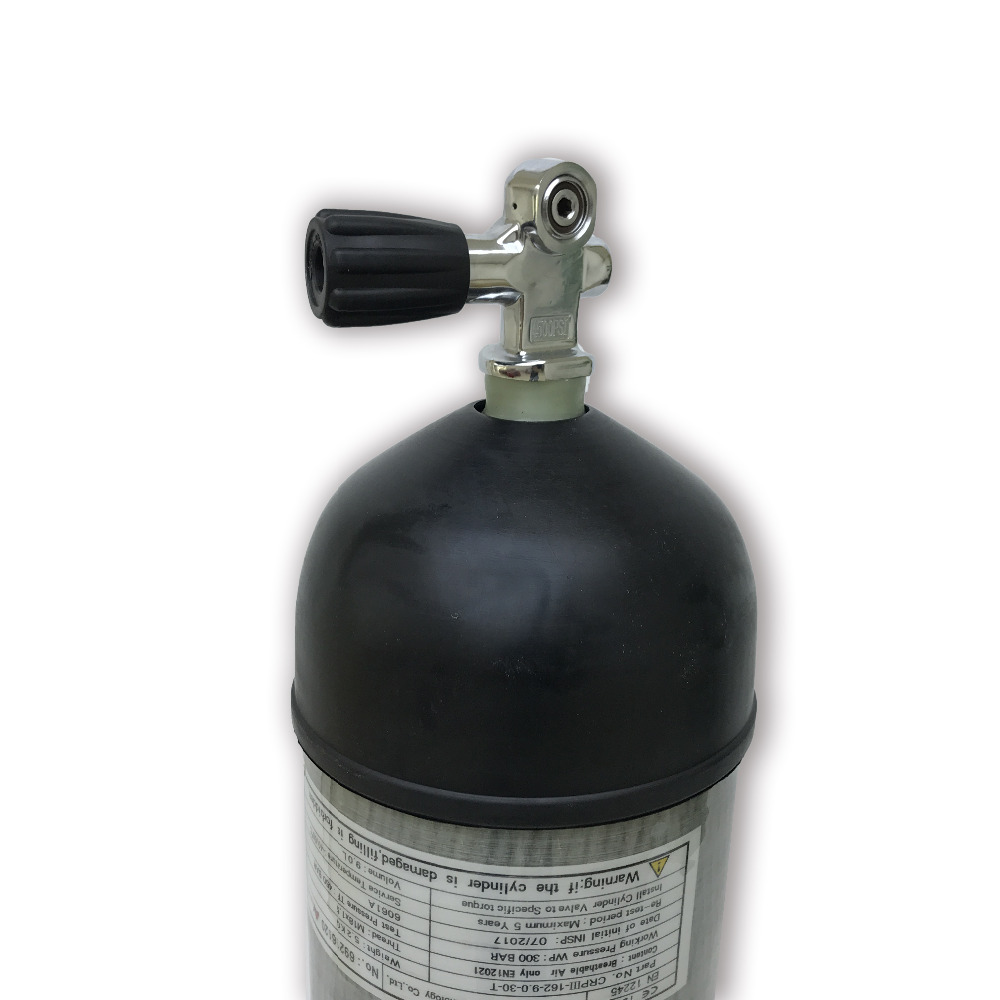 AC109591 Scuba Pcp Rifle 9L diving cylinder CE 30Mpa/4500Psi Air Tank High Pressure Cylinder For Compressor Diving