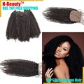 Cheap 4a / 4b / 4c pelo mongol teje 8A extensiones de cabello con cierre, humano de la virgen de las tramas del pelo con Top seda clausura envío gratis