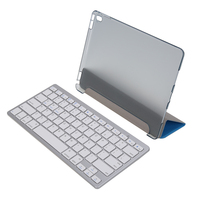 Smart Leather Case With Wireless Bluetooth Keyboard Stylus Pen Screen Protector Cleaning Cloth For IPad