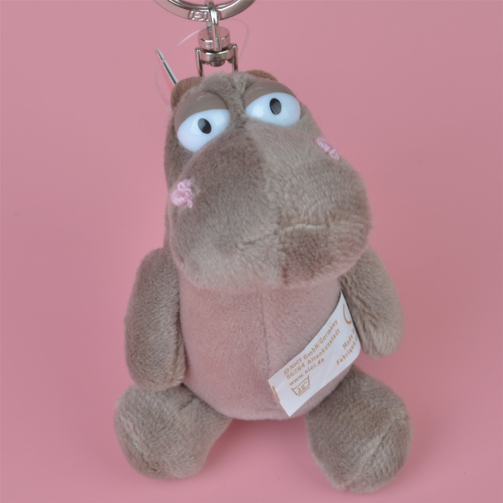 3 Pcs Hippos Small Plush Pendant Toy, Kids Doll  Keychain / Keyholder Gift Free Shipping