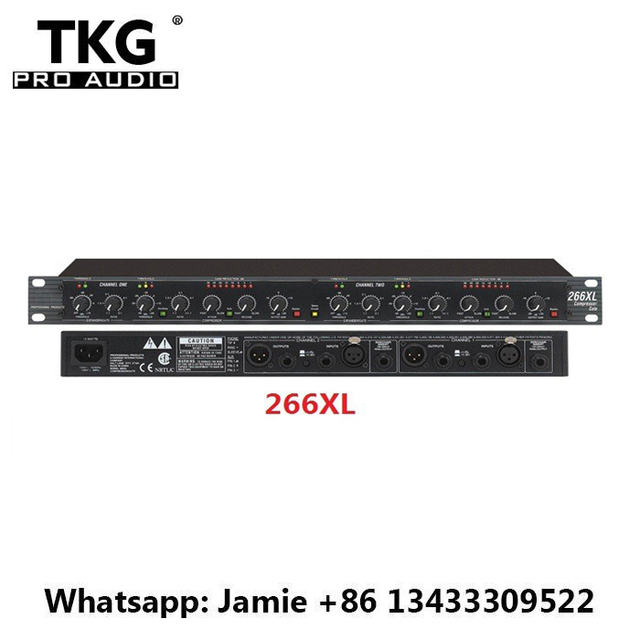 US $66 32 |TKG sound systems equipment dj audio Professional precision  maximizer dual channel compressor limiter 266XL speaker limiter-in  Amplifier