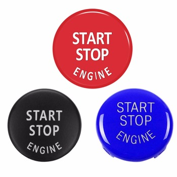 Auto Car Start Stop Engine Key Accessories Switch Decoration Engine Button Replace Cover for BMW X5 E70 X6 E71 3Series E90 E91 image