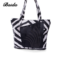BAIDA Women Handbag Leather Tote Bag Female Classic Zebra Prints Shoulder Bags Ladies Handbags Messenger Bag