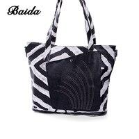BAIDA borsa delle donne tote bag in pelle femminile classic zebra stampe di spalla delle signore borse messenger bag Large capacital